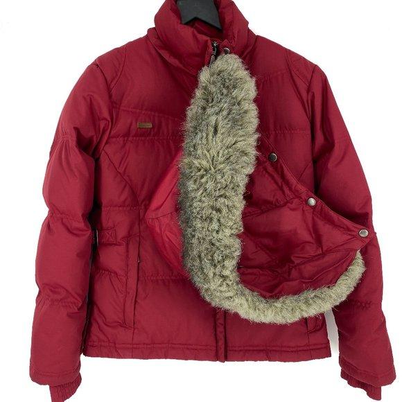 COLUMBIA SPORTSWEAR Faux Fur Trim Down Puffer
